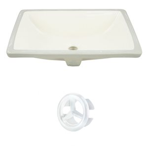 "American Imaginations Sink Set - 20.75"" - Ceramic - Biscuit"