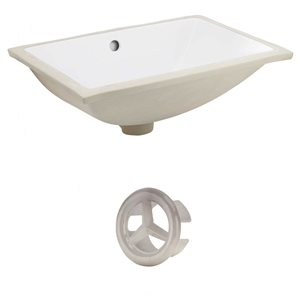"American Imaginations Sink Set - 20.75"" - Ceramic - White"