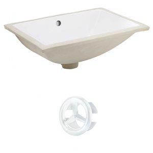 "American Imaginations Sink Set - 20.75"" - Ceramic - White"