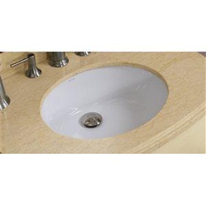 "American Imaginations Undermount Sink Set - 19.5"" - Ceramic - White"