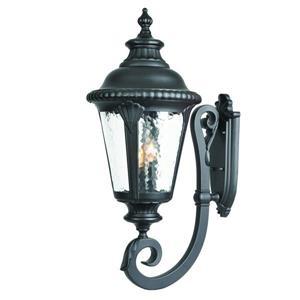 Acclaim Lighting Surrey 29-in Matte Black 3-Light Outdoor Wall Lantern