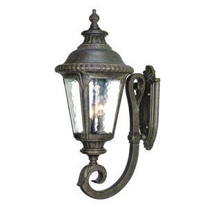 Acclaim Lighting Surrey 29-in Black Coral 3-Light Outdoor Wall Lantern