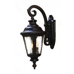Acclaim Lighting Surrey 24.5-in Black Gold 3-Light Outdoor Wall Lantern