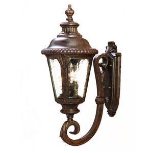 Acclaim Lighting Surrey 24.5-in Black Coral 3-Light Upward Outdoor Wall Lantern