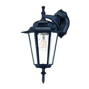 Acclaim Lighting Camelot 14.50-in x 8-in Matte Black Wall Mounted Lantern