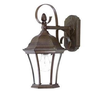Acclaim Lighting New Orleans 16-in Burled Walnut Outdoor Wall Lantern