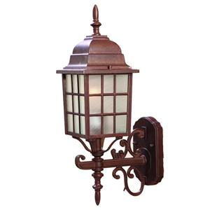Acclaim Lighting Nautica 18.5-in Burled Walnut Upward Outdoor Wall Lantern