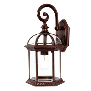 Acclaim Lighting Dover 16-in Burled Walnut 1-Light Outdoor Wall Lantern