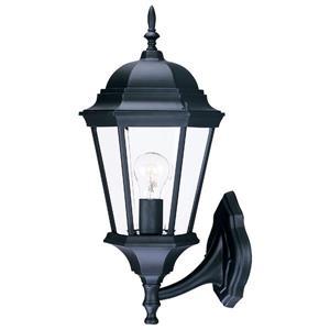 Acclaim Lighting Richmond 21.5-in Matte Black Clear Beveled Upward Outdoor Wall Lantern