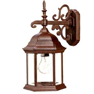 Acclaim Lighting Madison 16.75-in x 7.75-in Burled Walnut Outdoor Wall-Mount Light