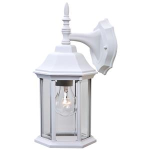 Acclaim Lighting Craftsman 2 13-in White Outdoor Wall Light