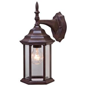 Acclaim Lighting Craftsman 2 13-in Burled Walnut 1-Light Outdoor Wall Lantern