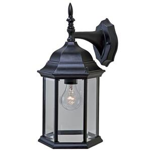 Acclaim Lighting Craftsman 2 15.5-in Matte Black 1-Light Outdoor Wall Lantern