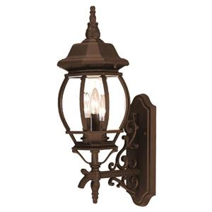Acclaim Lighting Chateau Burled Walnut 3-Light Upward Mounted Outdoor Wall Lantern