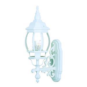 Acclaim Lighting Chateau Textured White 1-Light Upward Mounted Outdoor Wall Lantern