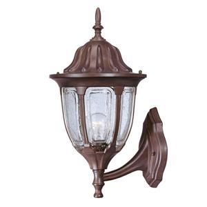 Acclaim Lighting Suffolk 18.25-in Burled Walnut Outdoor Wall Lantern