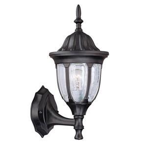 Acclaim Lighting Suffolk 19.75-in Matte Black Clear Seeded Upward Outdoor Wall Lantern