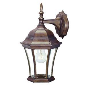 Acclaim Lighting Bryn Mawr 14.50-in x 8-in Burled Walnut Wall Mounted Lantern
