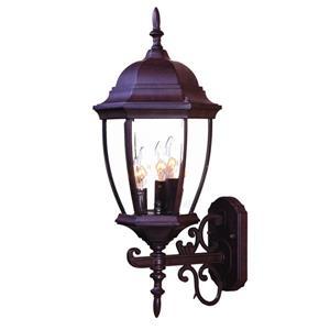 Acclaim Lighting Wexford 24-in Burled Walnut 3-Light Outdoor Wall Lantern