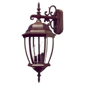 Acclaim Lighting Wexford 22.5-in Burled Walnut 3-Light Outdoor Wall Lantern