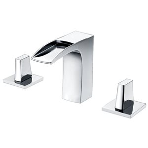 American Imaginations 19.5-in W Rectangle Vessel Set With 3 Hole 8-in CTC Center Faucet White
