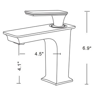 American Imaginations 17-in W Rectangle Above Counter Vessel Set With 1 Hole Left Faucet