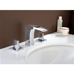 American Imaginations 16.25-In White Ceramic Wall Mount Vessel Set Chrome Faucet