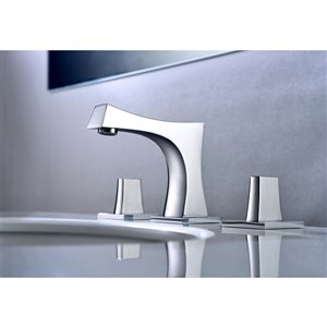 American Imaginations 22.25-In White Ceramic Wall Mount Vessel Set Chrome Faucet