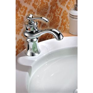 American Imaginations 20.25-In White Ceramic Wall Mount Vessel Set Chrome Faucet