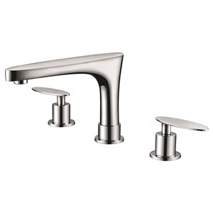 American Imaginations 15.25-in W CUPC Round Undermount Sink Set With 3 Hole 8-in CTC CUPC Faucet White