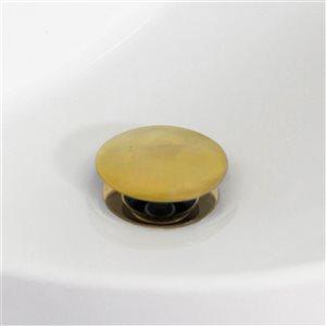 American Imaginations 16-in Round Undermount Sink Set Gold/Biscuit