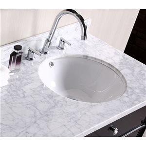 American Imaginations 15.25-in W Round Undermount Sink Set Brushed Nickel