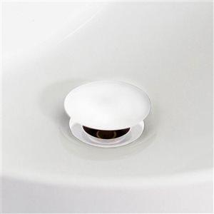 American Imaginations 15.25-in W Round Undermount Sink Set White