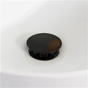 American Imaginations 18.25-in Ceramic Rectangle Undermount Sink Set Oil-Rubbed Bronze/Biscuit
