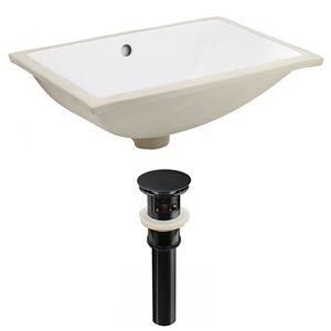 American Imaginations 20.75-in W Rectangle Undermount Sink Set White/Black