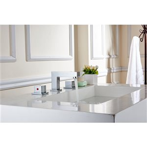 American Imaginations Biscuit 18.25-in CUPC Ceramic Rectangular Undermount Sink Set With Chrome Faucet