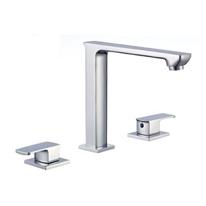 American Imaginations 16-in W Round Undermount Sink Set With 3-Hold 8-in Faucet Chrome/Biscuit