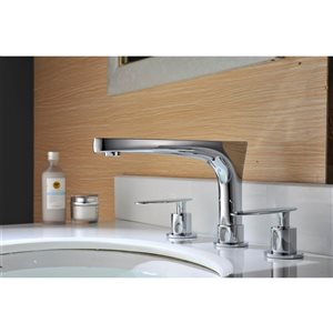 American Imaginations Biscuit/Chrome 16-in W CUPC Ceramic Undermount Round Sink Set With 3 Hole 8-in Faucet