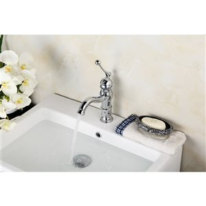 American Imaginations 15.25-in W Round Undermount Sink Set With 1 Hole CUPC Faucet