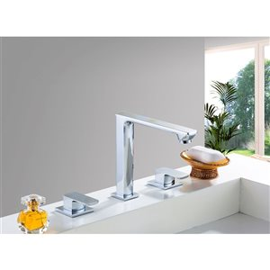 American Imaginations 18.25-in W Rectangle Undermount Sink Set With 3-Hole 8-in CTC CUPC Faucet Chrome/White