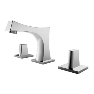 American Imaginations 18.25-in W Rectangle Undermount Sink Set Wirh 3-Hole 8-in CTC CUPC Faucet Chrome/White