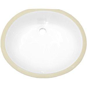 American Imaginaions 19.5-in Ceramic White Undermount Sink Set