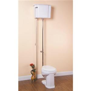 Cheviot White 2- Piece Standard Height High Tank Water Closet Round Toilet (1.6 GPF)