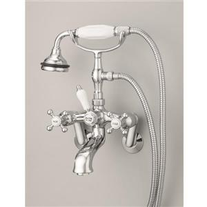 Cheviot Tub/Wall Mount Faucet for Clawfoot Bathtub - Brushed Nickel