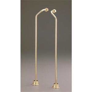Cheviot Water Supply Lines for Wall Mount Faucets - Polished Brass
