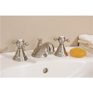 Cheviot Bathroom Sink Faucet with Cross Handles - Chrome