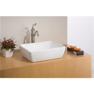 "Cheviot Riviera Vessel Bathroom Sink - 19 3/4"" x 15"" - White"