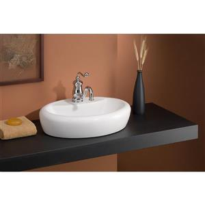 Cheviot Milano Self Rimming Bathroom Sink - White