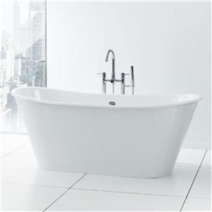 "Cheviot Iris Freestanding Soaking Bathtub - 68"" x 28"" - White"