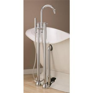 Cheviot Clawfoot Tub and Shower Filler - Polished Nickel